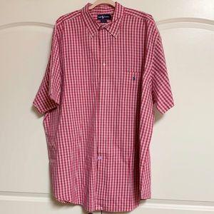 Ralph Lauren Polo Pink Blue Check  Shirt 3 XXXL